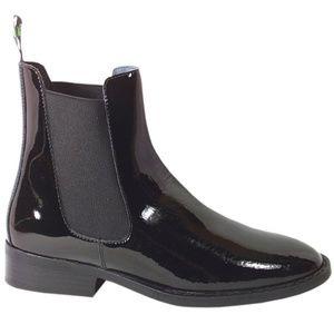 Jodhpur Paddock Riding Boots Black Patent Leather